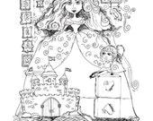 Coloring Page Cinderella Dreams