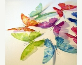 NEW YEAR SALE B101 - 12 x 3D Butterflies Suitable for Scrapbooking, Weddings and Decorations