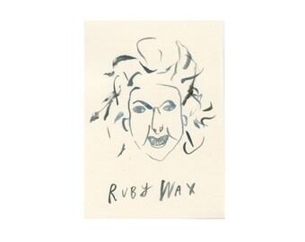 Original Portrait    RUBY WAX    100failedfamousfaces