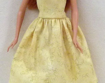 "Yellow Fashion Doll Dress Handmade 11.5"" fashion doll dress"