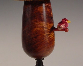 Miniature Bird House Turned From Exotic Woods No. 131