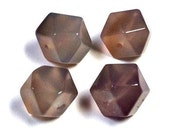 Vintage Gray Chalcedony cubo-octahedron FOCAL STONE 12mm pkg 4 cb224t