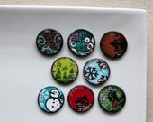 Christmas Polymer Clay Buttons (8)