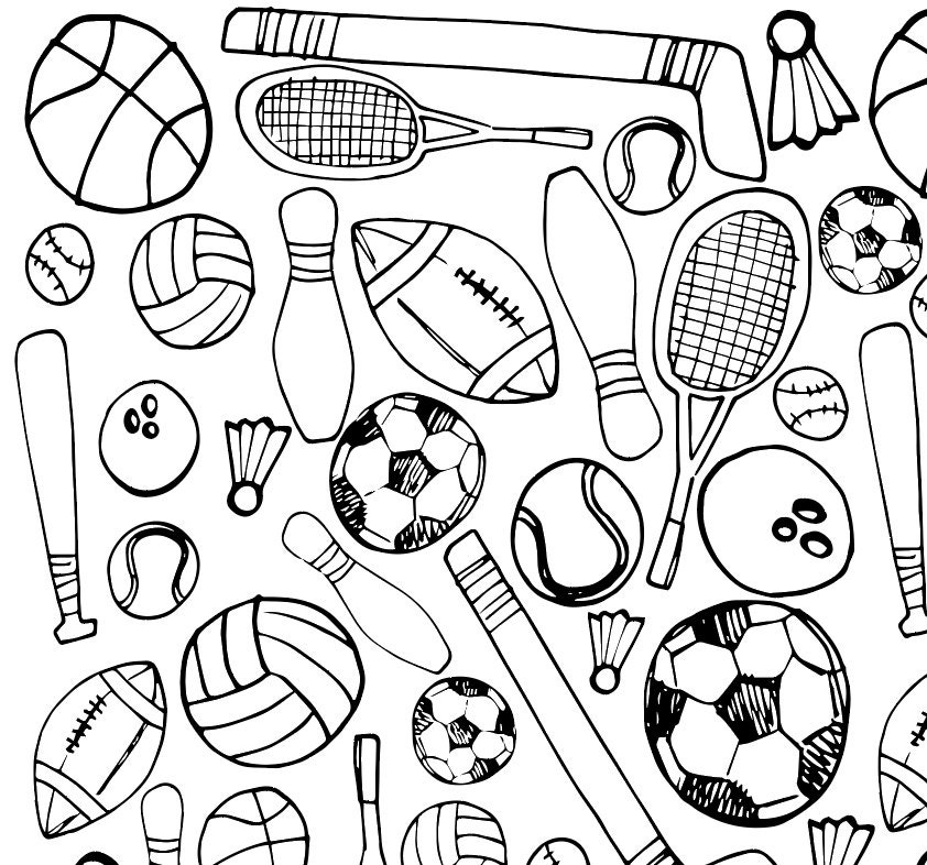 Printable Sports Coloring Page by xolp on Etsy