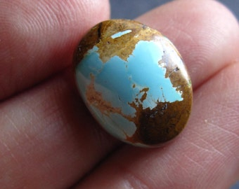 Royston Ribbon Turquiose Cabochon oval  - natural genuine AAA quality