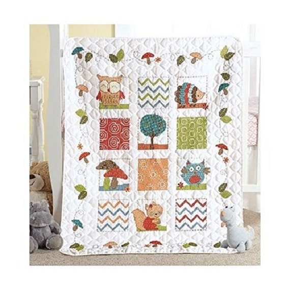 Woodland Baby Crib Cover
