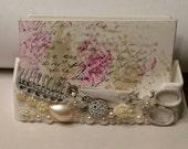 Pearl Scissor  HairStylist Business Card Holder