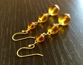 Golden Drops 14K Gold Plated Earrings