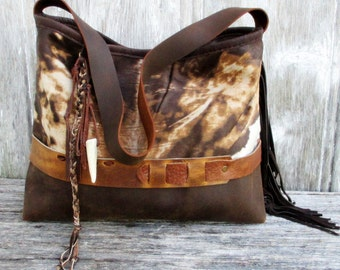 RESERVED for Jennifer Rustic Soft Acid Washed Calfskin Shoulder Bag by Stacy Leigh