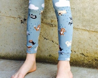 Leg and Arm Warmers for Boys and Girls - Raining Cats and Dogs Design for Baby, Toddler, Kid and Tween - Great Baby Shower or Birthday Gift