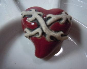 New! Large Red Bound Heart