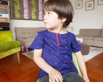New! COTTON SHIRTS - PDF e pattern - 3 sizes between 1Y and 10Y