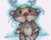 771 Bearly a Reindeer Digi Stamp