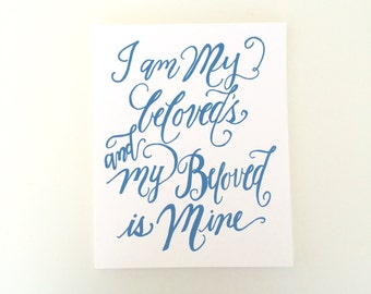 I am My Beloveds print -BLUE