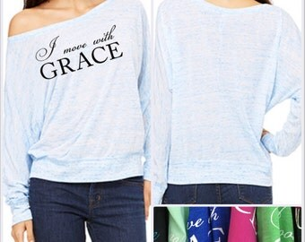GraceWear Dolman Shirt with Customized Text and Colors
