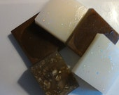 Shea Butter & Glycerin Soap   2 ounces  soap with scrubbing mit  Choose: Coconut Milk, Hot Chocolate, Apples  Cinnamon w/oats