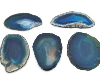 Brazilian Blue Agate Slices, Crafting, Jewelry, Windchimes, supplies, Stone, Multi Use, Agate Slices, Bridal Shower Decor, Outdoor Decor