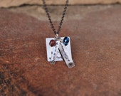 "Missionary Mom Necklace With Custom Stamped ""Missionary"", where they are serving and their name! As shown is ""Russia"" and ""Elder"""
