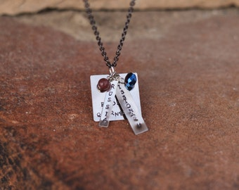 """Missionary Mom Necklace With Custom Stamped """"Missionary"""", where they are serving and their name! As shown is """"Russia"""" and """"Elder"""""""