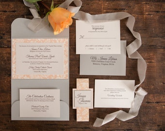 Wedding Invitation - Ivana's Pocketfold - SAMPLE Staccato Signature Collection