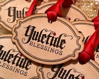 Red Christmas Tags, Traditional Christmas, Vintage Tags, Red Ribbon, Christmas 2016, Glitter Tags, New Xmas Tags,  Red Xmas Tags