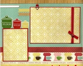 Cute Little Chef - Premade Cooking Scrapbook Page