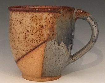 Speckled Coffee Mug - Blue - Green - Brown - Cream - Handmade - Speckled - 13 oz