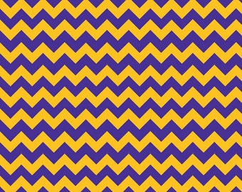 Sale fabric, Vikings fabric, Minnesota fabric, Fabric by the yard, 6 Dollars/yard, Chevron fabric, Purple and Gold fabric,  Riley Blake