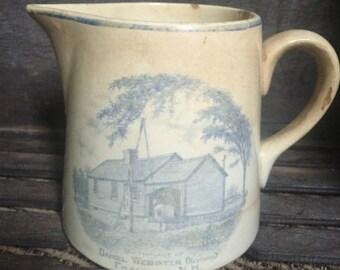 Souvenir Daniel Webster Creamer- Birthpace Franklin, New Hampshire