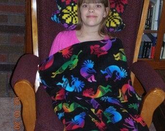 Kokopelli sleeping bag, child kokopelli sleep sack, toddler kokopelli nap mat