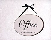Wood Office Sign, Business Plaque, Rustic Shop Signage, Door or Window Hanging, Entry Office Signage, Office Welcome, Bureau Room, Workplace