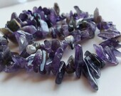 Gemstone Chip - Large Amethyst Gemstone Bead Chip - FULL STRAND 16.5 inches long, Great Quality, Natural Gemstone.