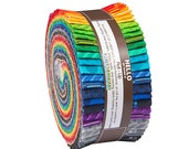"""Robert Kaufman COLOR UNION Roll Up 2.5"""" Precut Fabric Quilting Cotton Strips Jelly Roll RU-513-40"""