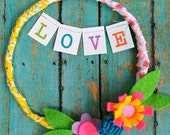 LOVE -- A Fanciful and Fun Valentine Hoop, YOU Pick