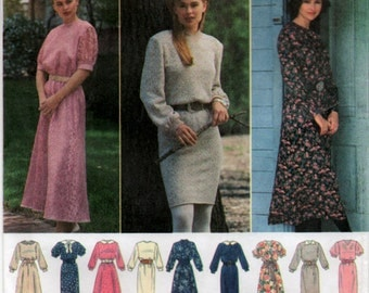 Plus Sizes Design a Dress 1994 Sewing pattern Simplicity 9203 size 20 to 26 Euro 46 to 52