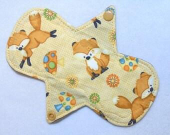 "7.25"" Regular Foxes - Reusable Cloth Menstrual Pad (7MC)"