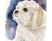 """Custom Watercolor Painting, Pet Portrait, Father's Day, Wall Art, Art, Gift Idea, Gift For Her, 8"""" x10"""", Gift, Home Art, Pet Art, Home Decor"""