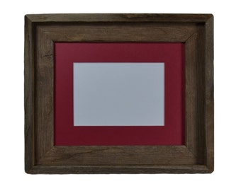 8x10 photo frame wall hung from reclaimed wood with 8x6 or 5x7 mat