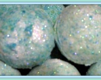 2 pack Mermaid Kisses Bath Bomb Fizzy 2.8 oz net EACH (aromatic, exfoliating, moisturizing, gift idea, ocean colors) stardust soaps