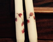 "Tossed Roses 12"" Candlesticks - Pretty Petals Candles by T. F. Rice"