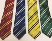 Harry Potter inspired neckties - Adult Size - All Houses - Gryffindor - Slytherin- Ravenclaw - Hufflepuff Houses