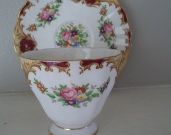 Grosvenor Bone China Cup & Saucer, Made in England