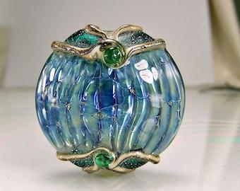 Lampwork Glass Bead Lost Jewel Of Atlantis Lampwork Focal Bead
