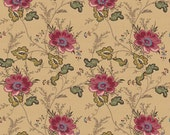 CLEARANCE!  The Era Of Jane Collection-Flower-Red-Sue Daley Designs-Penny Rose Fabrics-Cotton Fabric-Quilt Cotton- Full Yard Cut
