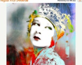 On Sale Art, Photography, Portrait, Woman Portrait,  Fine Art Print, Giclee Archival Print, Photomontage, Collage, Painted Photographs,