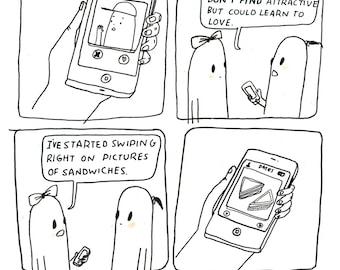 Tinder Sandwich Postcard