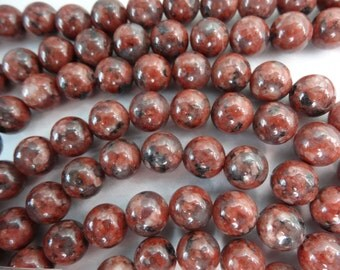 "15 1/2"" Strand Natural Brecciated Jasper 8mm Round Stone Beads A938"