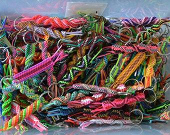 50 rexlace boondoggle gimp plastic lace key chains Napoleon Dynamite keychains