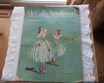 Vintage McCalls Needlework magazine knit crochet Fall Winter 1953-54