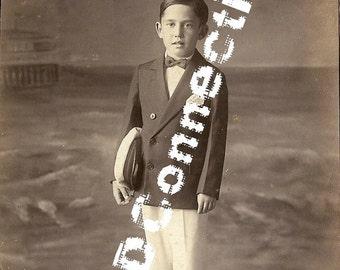ON SALE Bruno Cristelli, 1929 Photograph Little Sailor Boy, Galveston Texas Rare Photograph, Rosemarie Cristelli